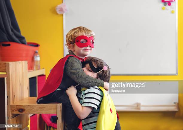 children having crafting activity - superhero stock pictures, royalty-free photos & images