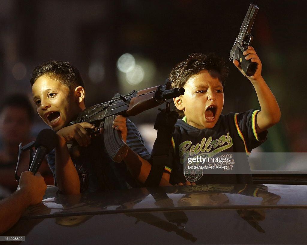 PALESTINIAN-ISRAEL-CONFLICT-GAZA-TRUCE : Nyhetsfoto