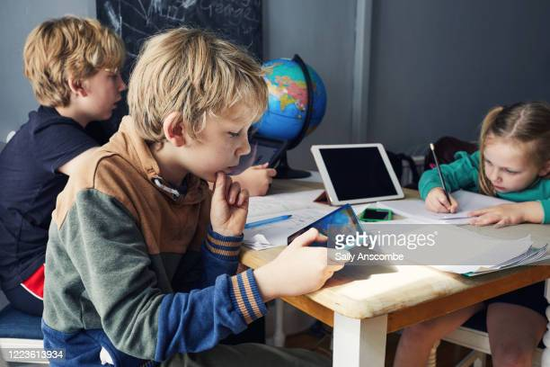 children homeschooling - sibling stock pictures, royalty-free photos & images