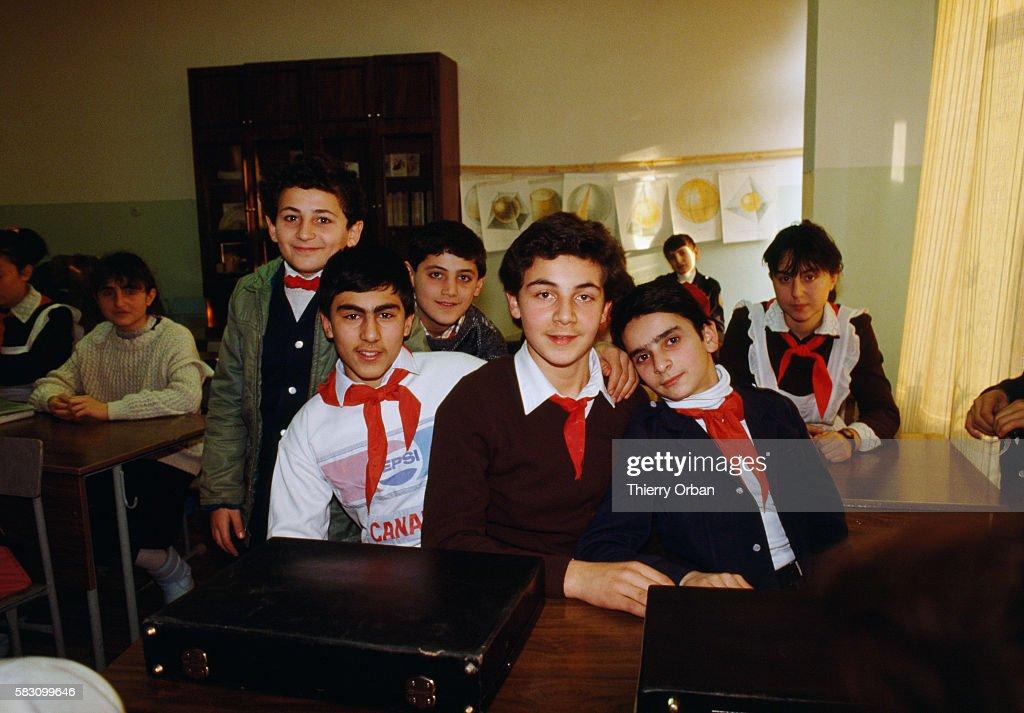School Kids in Yerevan : News Photo
