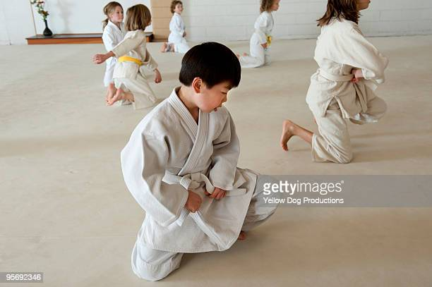 Children in Aikido martial arts class