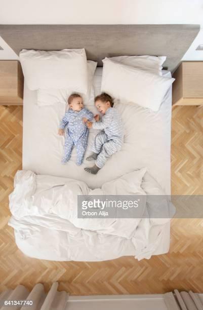 Kinderen in bed