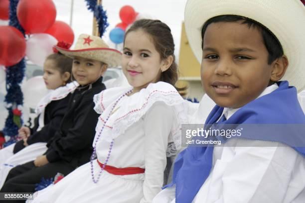 Children in costume at the Jose Marti Parade