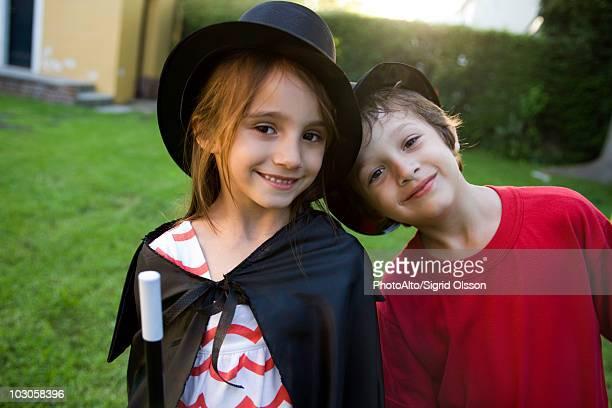 Children in costume, portrait