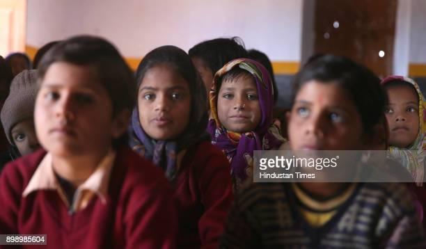 Children in English speaking class at Shaheed Surjaram Government School Deeppura Rajaji on December 18 2017 in Sikar India The Rajasthan government...