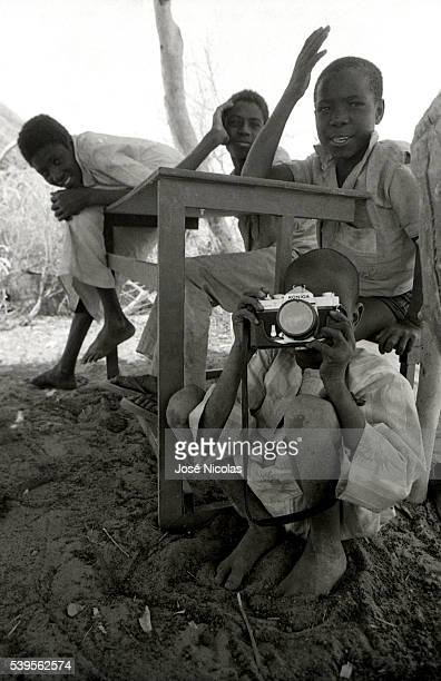 Children in Mao Chad sometimes referred to as the 'Dead Heart of Africa' due to its distance from the sea and its largely desert climate