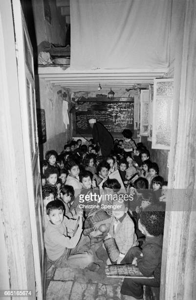 Children in one of many Koranic schools to be found in the Casbah of Algiers