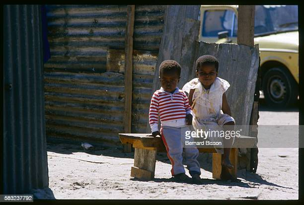 Children in South African Township