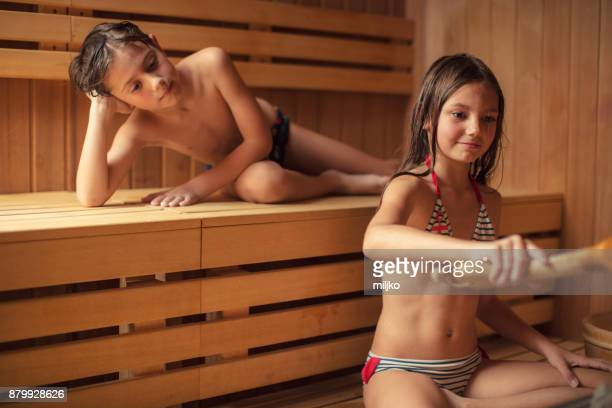 children in spa center - tween girls hot stock photos and pictures