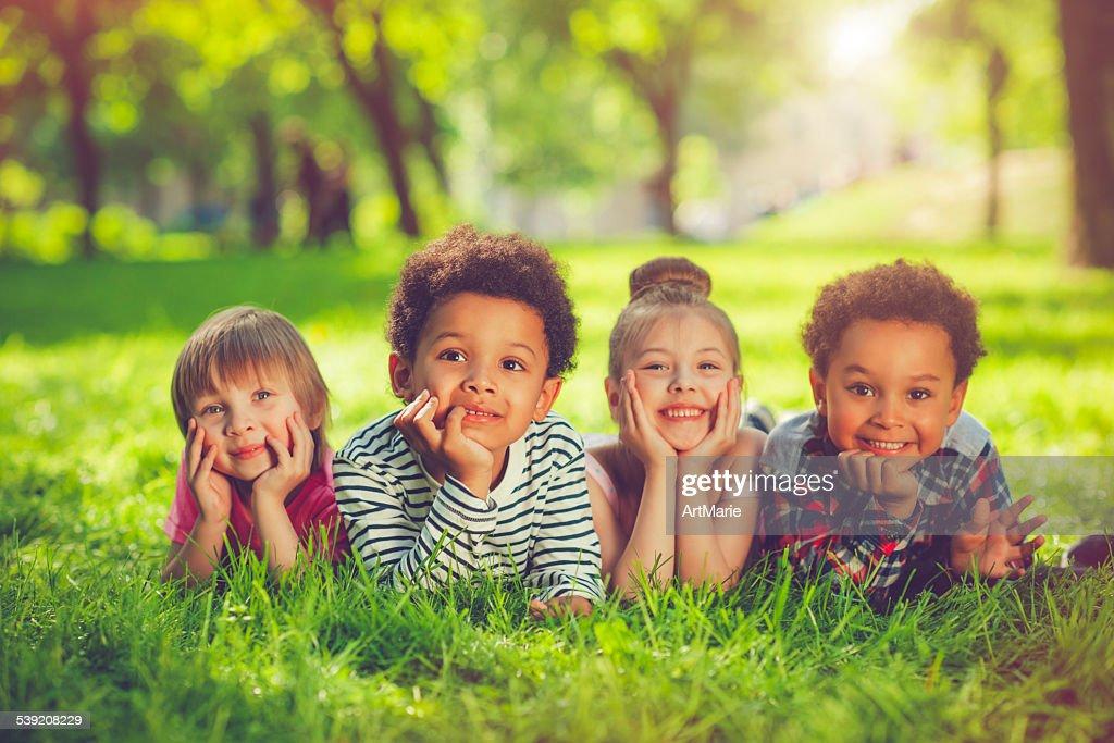 Children in summer : Stock Photo