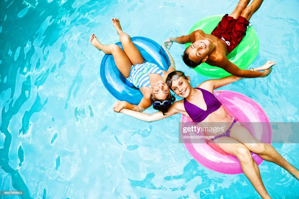 Children in Swimming Pool : Stock Photo