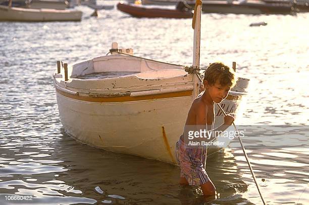 Children in the boat