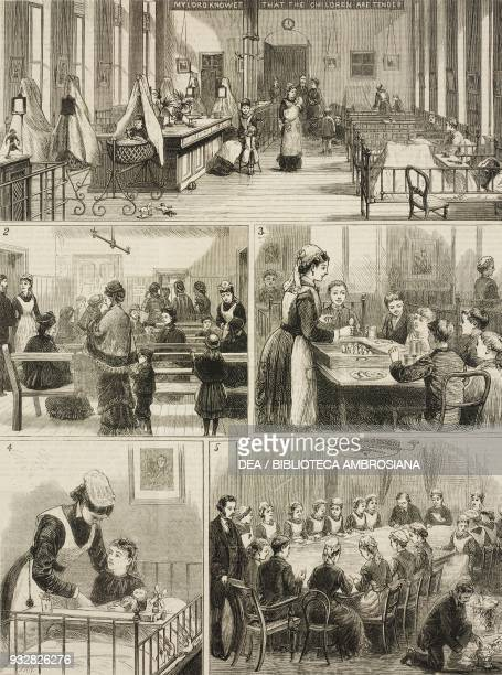 1 Children in the Princess Mary ward 2 applicant for admission 3 eggs for breakfast 4 a convalescent patient 5 folding circulars for the Post the...