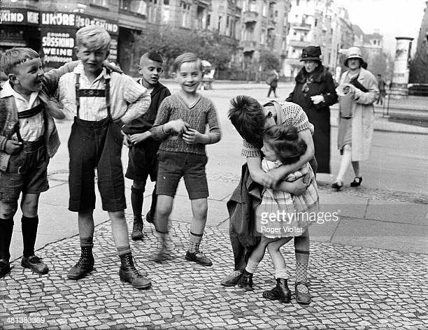 Children in the street Berlin circa 1930