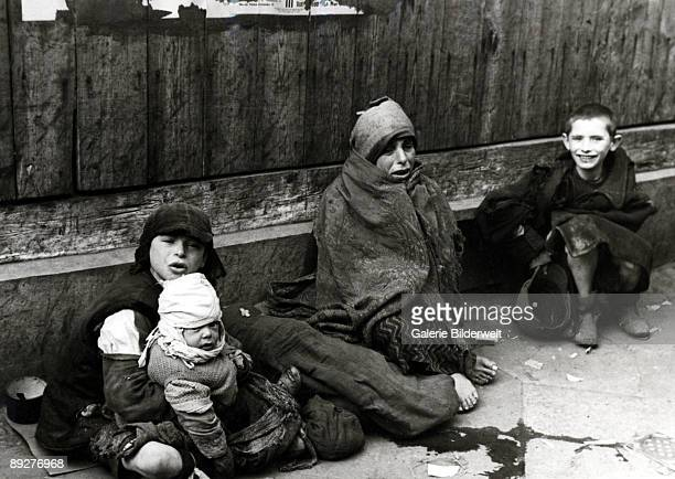 Children in the street in the Warsaw Ghetto, Poland, 1941.