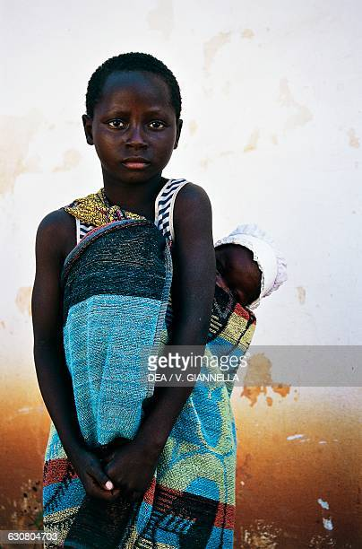 Children in the village of Ngoma Kafue National Park Zambia