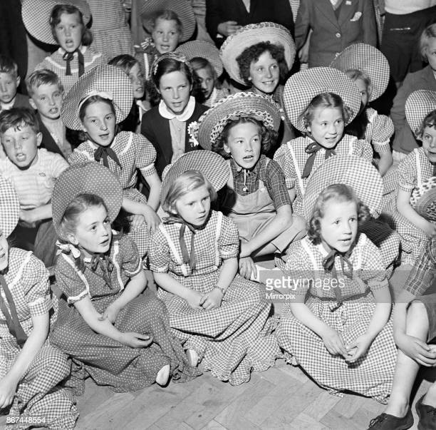 Children in traditional clothing at Butlins Holiday Camp Filey North Yorkshire 30th July 1954