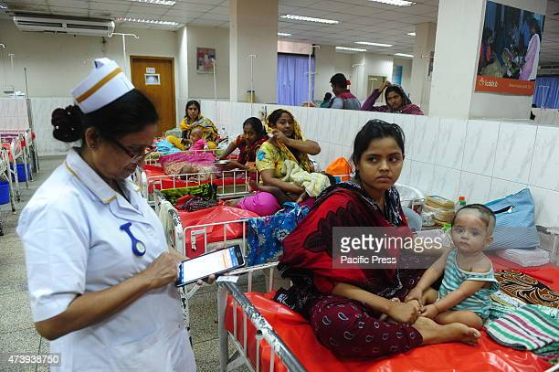 Children infected with diarrhea with their mother in a hospital Patients of diarrhea cases increases in recent times due to the rising temperatures...
