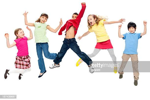 Children Jumping (Isolated; XXXL)