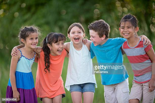 Children Laughing Happily
