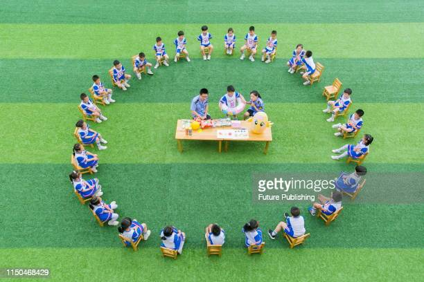 Children learn about food safety and product safety in a playful atmosphere. Rugao, jiangsu province, China, June 18, 2019.PHOTOGRAPH BY Costfoto /...
