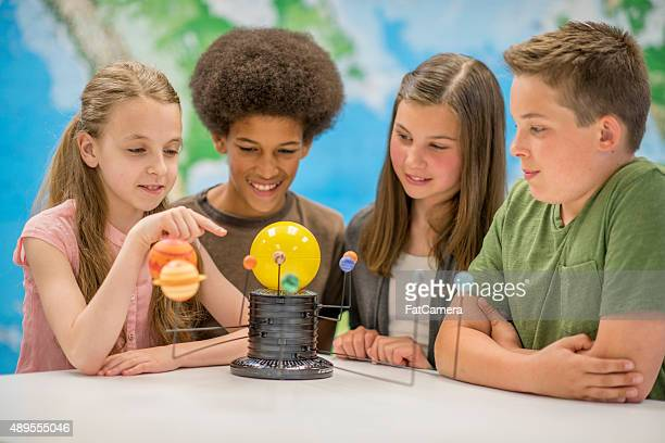 Children Learning About the Planets