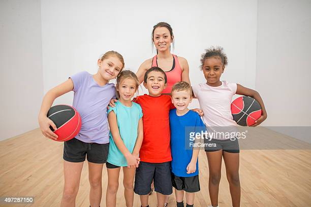Children Learning Sports Games