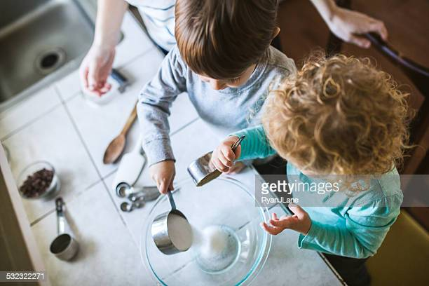 Children Learning to Bake