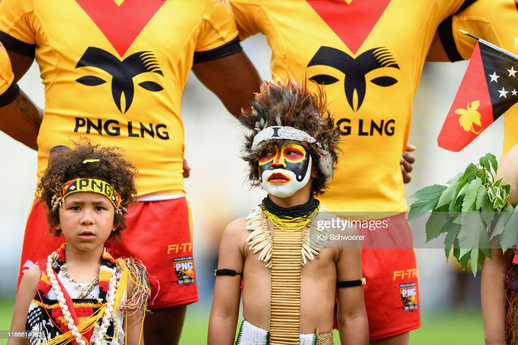 Fiji Bati v Papua New Guinea Kumuls : News Photo