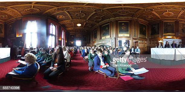 Children listen during an EU Referendum Debate in Speaker's House on May 23 2016 in London England The event was organised by the children's...