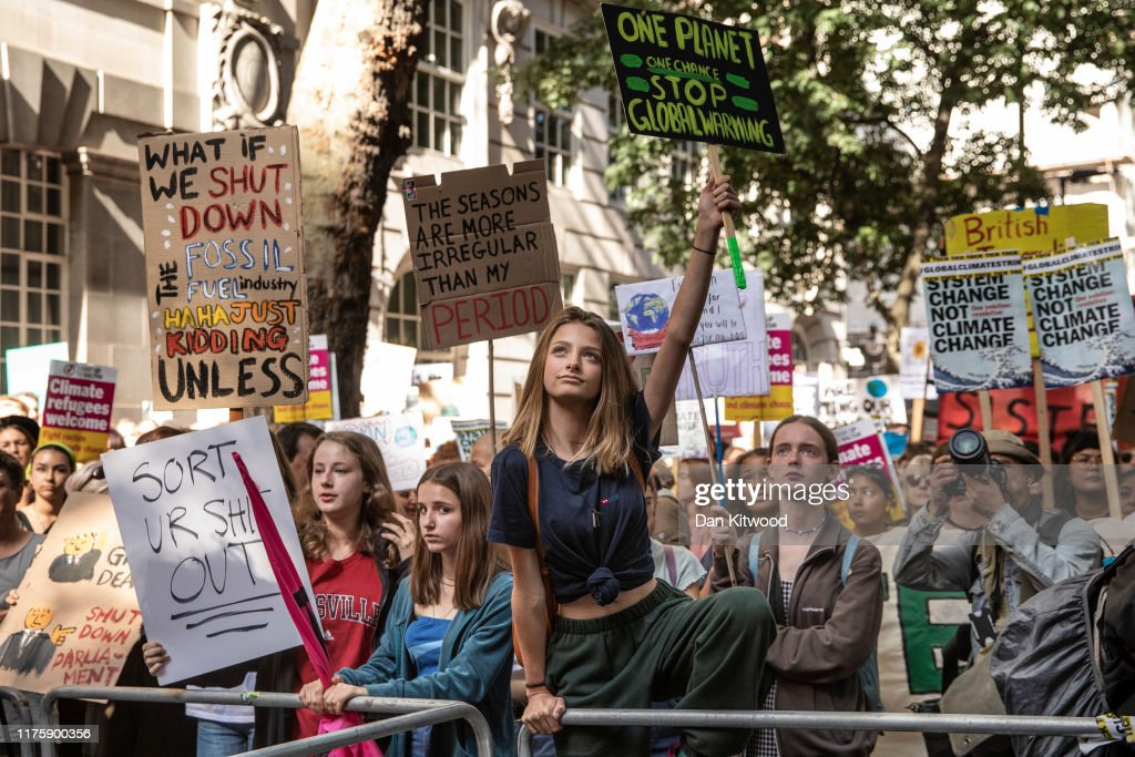 Activists In London Join The Global Climate Strike : News Photo