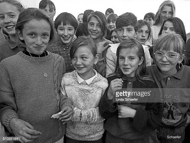 Children living in a refugee camp outside Mostar at the height of the war between Croatia and Serbia in 1993