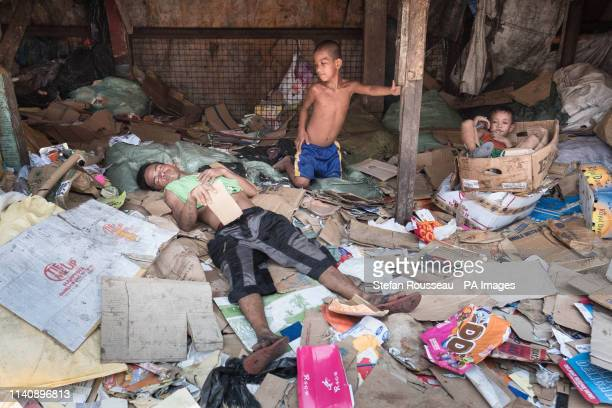 Children living in Tondo, north west Manila in the