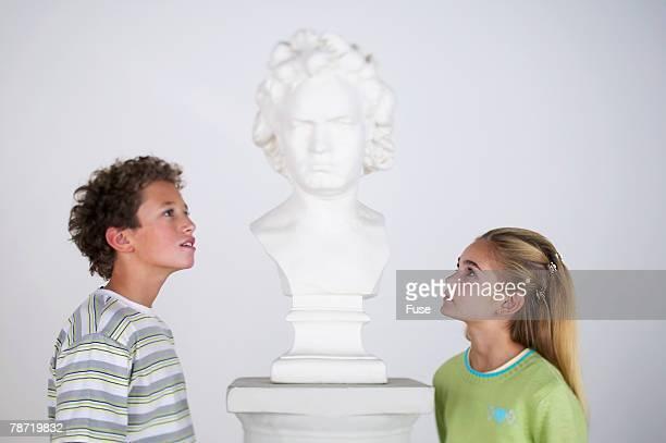 Children Looking at Sculpture