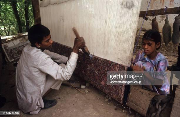 Children Making Carpets India Baaseli Village Rajasthan State Children Making Carpets For Export