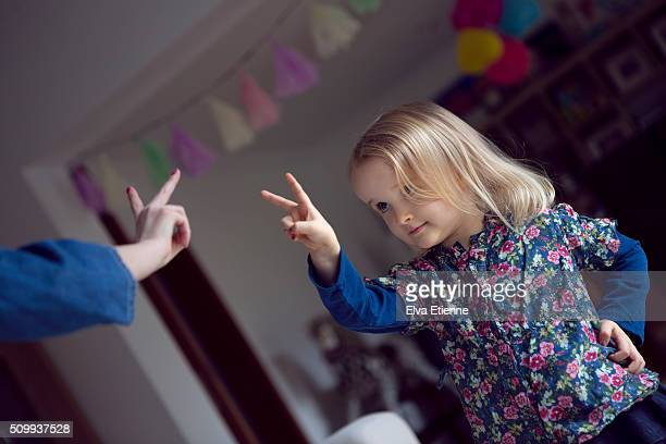 children making peace sign - kid middle finger stock pictures, royalty-free photos & images