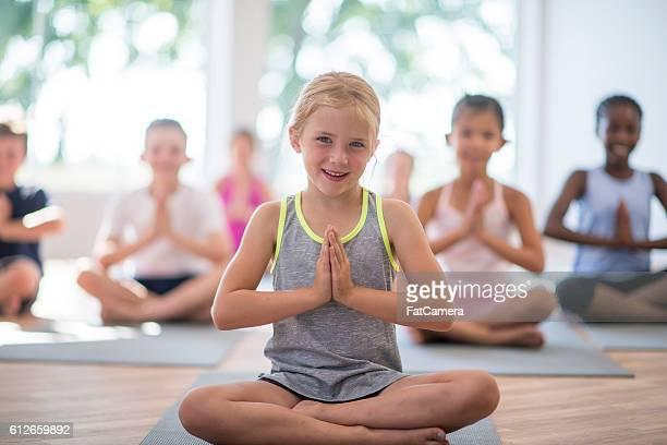 Children Meditating in Yoga