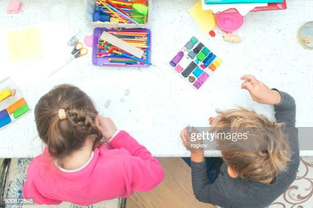 Children Mold clay craft