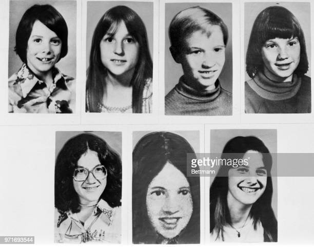 Children murdered by unknown man in Detroit's affluent suburbs Children from left to right Timothy King Kristine Mihelich Mark Stebbins Jill Robinson...