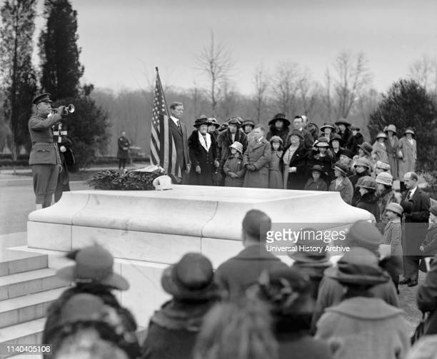 Children of American Revolution at Tomb of Unknown Soldier Arlington National Cemetery Arlington Virginia USA National Photo Company April 16 1923