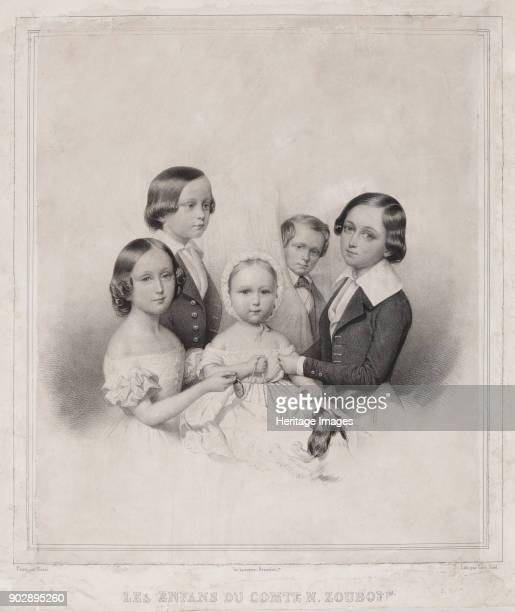 Children of Count Nikolay Alexandrovich Zubov Found in the Collection of State Museum of AS Pushkin Moscow