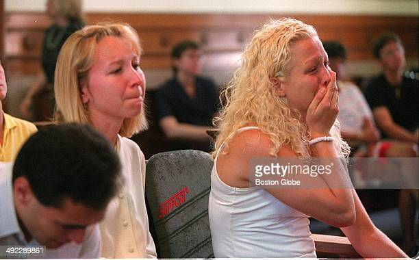 Children of Dr Dirk Greineder left to right Colin Kirsten and Britt listen to testimony by their father during his trial for the murder of their...
