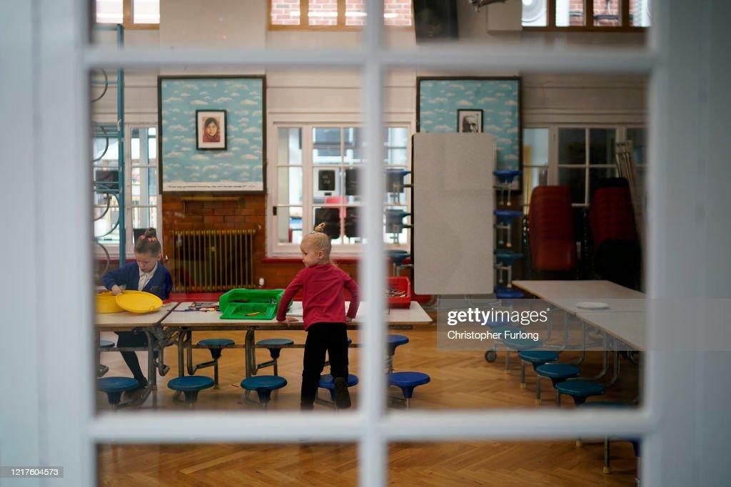 UK Schools Remain Open To Support Children Of Key Workers During Coronavirus Lockdown : News Photo