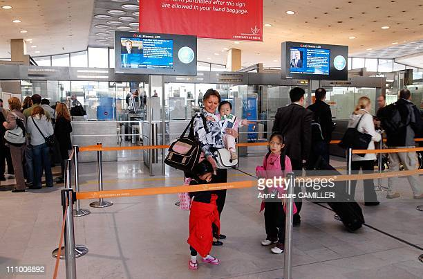 Children of Laos Mission for the hearts in Roissy France on October 24th 2006 Roissy Charles de Gaulle airport Chantal Hauton an Aviation Sans...