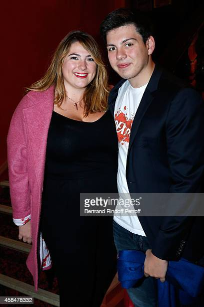 Children of Michele Bernier Charlotte Gaccio and her brother Enzo Gaccio attend the 150th Representation of the 'Je prefere qu'on reste amis' Theater...