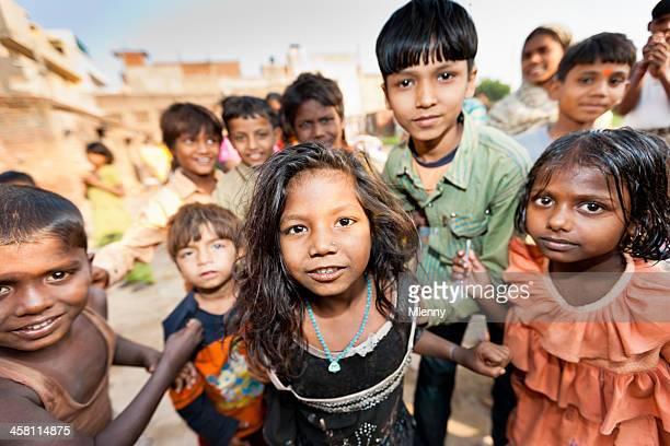 children of new delhi slum india - indian slums stock pictures, royalty-free photos & images