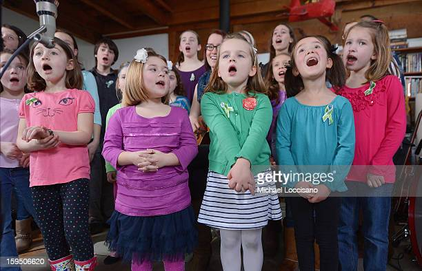 Children of Newton CT perform A Song From Sandy Hook with Ingrid Michaelson at the home of Chris Frantz and Tina Weymouth of the Talking Heads on...