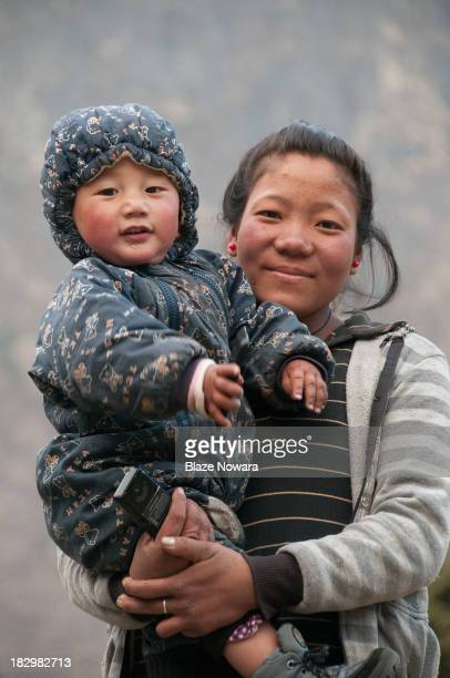 CONTENT] Children of the owners of a guesthouse in Dhole on route to Gokyo and Everest Base Camp in Nepal