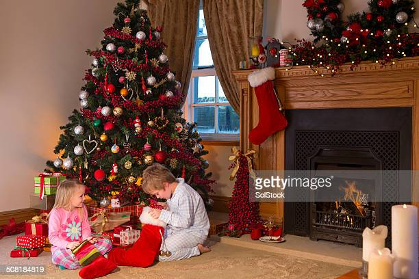Children on Christmas Day