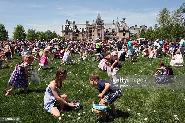 Children  on Easter Egg Hunt at Biltmore Estate, USA
